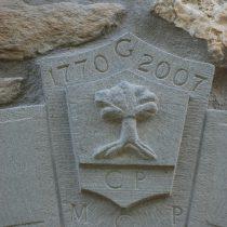 Particolare dello stemma in pietra serena