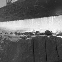 Particolare del taglio della roccia